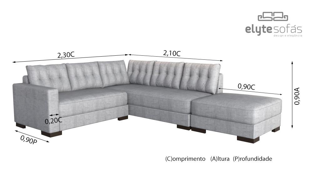 Sofá de Canto + Puff | Morumbi