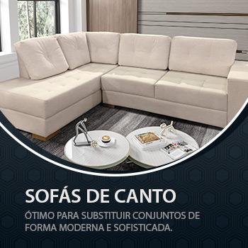 SOFÁS DE CANTO - Ótimos para substituir conjuntos de forma moderna e sofisticada.